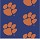 Milliken Carpets: Collegiate Repeating Clemson (Blue) Tiger