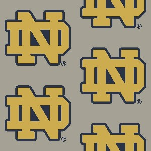 Collegiate Repeating Notre Dame (Grey)